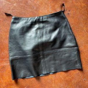 Vintage 100% leather skirt